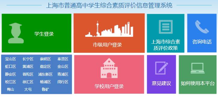 上海综合素质评价信息管理系统登
